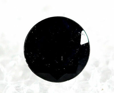 Genuine Natural Sapphire Black round Shape Faceted SB-01