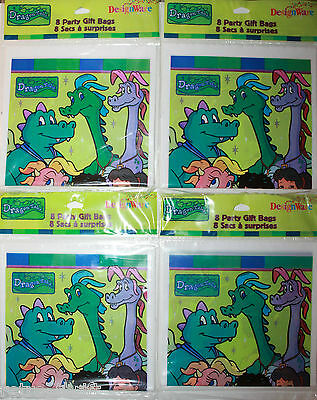 4 x Dragon Tales Party Supplies Gift Bags 32 Total DesignWare Sony Pictures