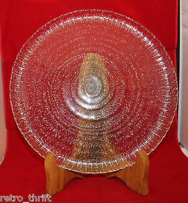 """Arcoroc France Swirled Spirale Spiral Serving Party Glass Plate 30cm 11 3/4"""""""