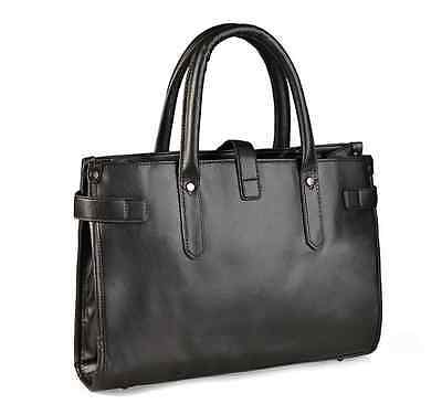 Men Women Leather Business Handbag Shoulder Messenger Bag Briefcase Laptop Bag