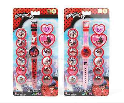 Miraculous Ladybug Kids Fashion Watch Play Toy Gift Image Replace 1 Random Color