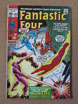 FANTASTIC FOUR #105 (DEC 1970,Marvel) FN