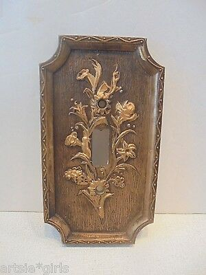 American Tack & Hardware Single Decorative Faux Wood Single Switch Plate 1967