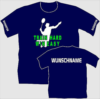 Federballshirt Badminton T-Shirt Trikot Training Vereins Shirt Kindershirt 18