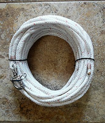 """5/16"""" x 75 ft. Dac/Polyester Halyard, Spliced in S/S Swivel Snap Shackle w/red"""