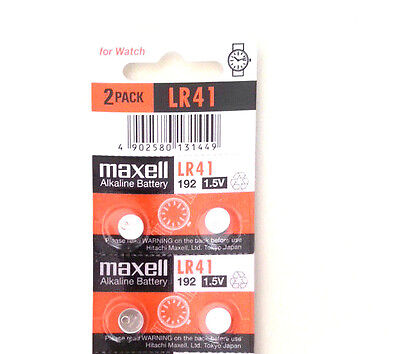 4pcs Maxell LR41 coin cell button battery AG3 392A 192 SR41 LR736 CX41 exp. 2021