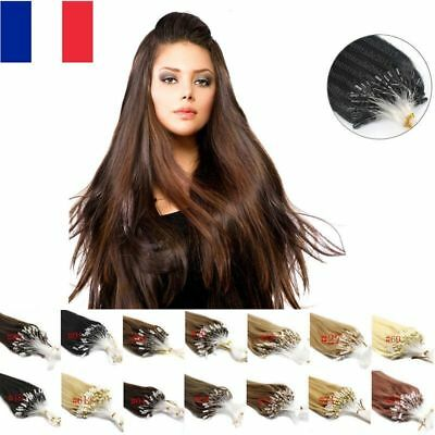 25,50,100  Extensions 100% Cheveux Naturels Remy Pose A Froid Easy Loop 53Cm+++
