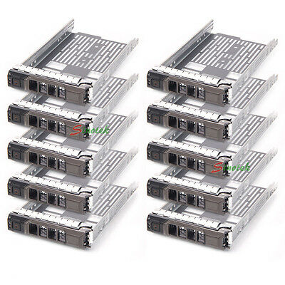 "10X 3.5"" SAS/SATA Drive Tray Caddy for Dell Sled G302D T710 F238F R810 R710 T610"