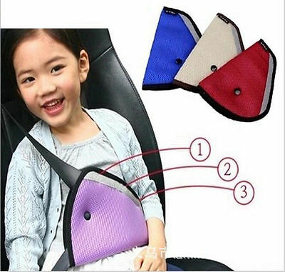 Car Accessories Comfortable Child Car Seat Belt Holder Triangle 5 Colors