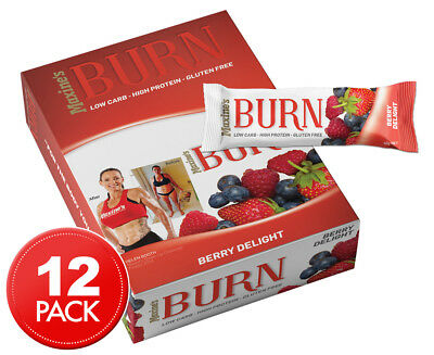 12 x Maxine's Burn Protein Bars Berry Delight 40g