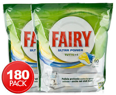 2 x Fairy All In One Ultra Power Dishwasher Capsules 90pk