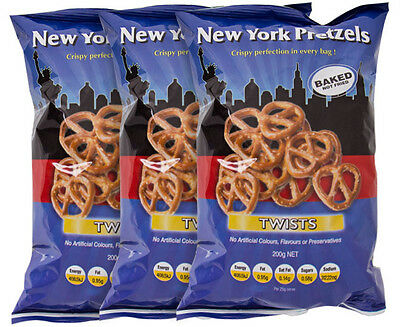 3 x New York Pretzel Twists 200g
