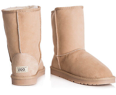 OZWEAR Connection Unisex Classic 3/4 Ugg Boot - Sand