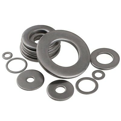 A2 304 Stainless Steel Flat Washers To Fit Metric Bolts & Screws M1.6 To M30