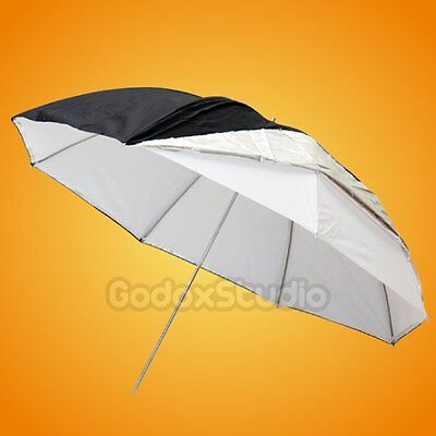 "[UK]Studio 40"" 100cm Silver Black Reflective +  White 2in1 Double Layer Umbrella"
