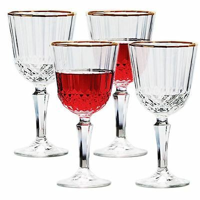 Circleware - Piemonte 300ml Gold Rim Goblet set of 4