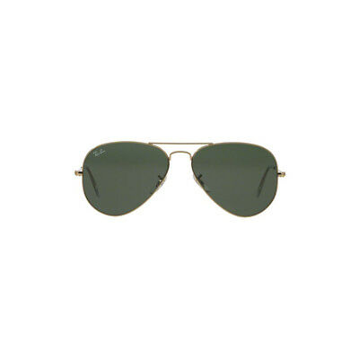 New Original Ray Ban Aviator Sunglasses RB3025 Gold Frame L0205 58mm Green Lens