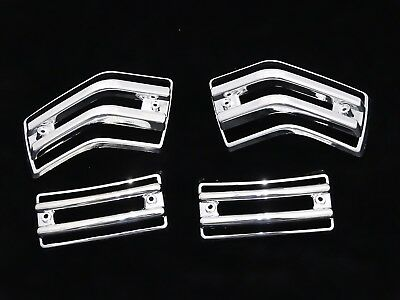 New Vespa Px/lml Indicator Protector Plastic Chrome Grill Set Of 4 #vp733
