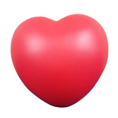 1 X Novelty Red Foam Heart Stress Reliever Hand Exercise Physio