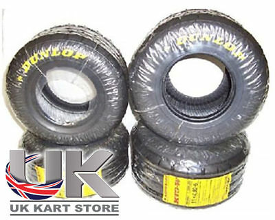 Dunlop KT3 Wet Tyre Set Honda Cadet Latest Batch MSA Legal UK KART STORE