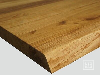 Solid European Oak Stair Treads Winders untrimmed front edge 40 mm Natural oiled