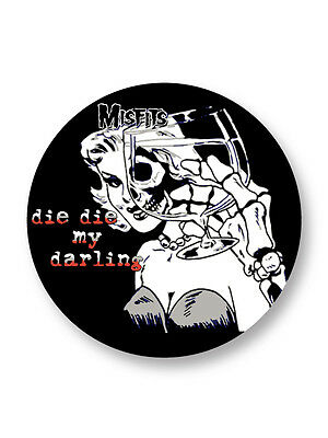 "Pin Button Badge Ø25mm 1"" The Misfits Punk Rock US"