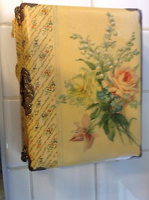 Music Box With Attached Photo Album Victorian and over 40 photos/ post card mix