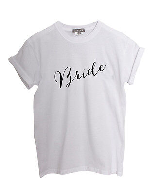 'Bride' Slogan Boyfriend Roll Sleeve TShirt