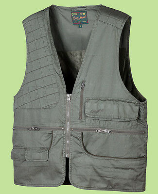 CHALECO DE CAZA COOL COTTON DESCASTE hunting vest cazador jacket tallas grande
