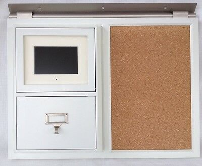 OFF WHITE POTTERY Barn Cork Bulletin board with Pandigital Digital ...