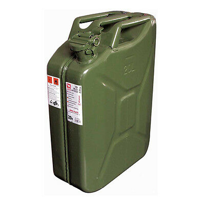 11231 - TANICA CARBURANTE METALLO - 20 LITRI TIPO MILITARE OMOL. Un Approved