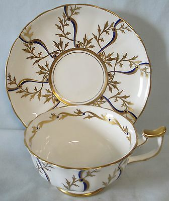 Royal Chelsea Cobalt with Gold Cup & Saucer
