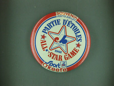Montreal Expos 1982 All Star Baseball Game Button Extremely Rare
