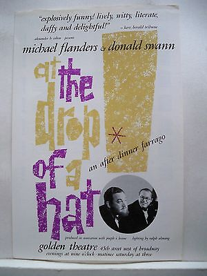 AT THE DROP OF ANOTHER HAT Herald MICHAEL FLANDERS & DONALD SWANN NYC 1967