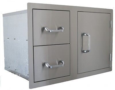 BEEFEATER Stainless Steel Single Storage Door with 2 Drawers BS24230