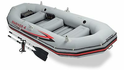Intex Mariner 4-Person Boat Set Inflatable Summer Outdoors Activity
