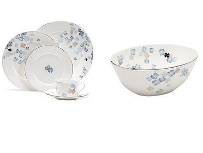 Martha Stewart Collection DinnerwareWater Blossoms 5 piece place setting  sc 1 st  PicClick & MARTHA STEWART COLLECTION Dinnerware Lisbon Grey 4 Piece Round Place ...