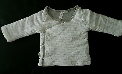Sooki baby thick padded reversible jacket white grey 6-12 months 0