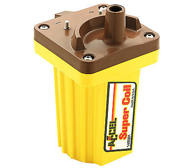 Accel 140001 Ignition Coil, Super Coil, Canister, Rectangle, Oil-Filled, Yellow/