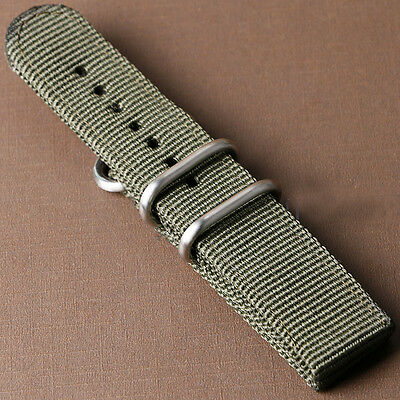 20/22mm Nylon Fabric Canvas Wrist Watch Band Strap Military Sport Classic Buckle