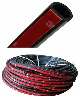 13FT 4M Big D-shape Weatherstrip Truck Car Motor Door Rubber Hollow Seal Strip