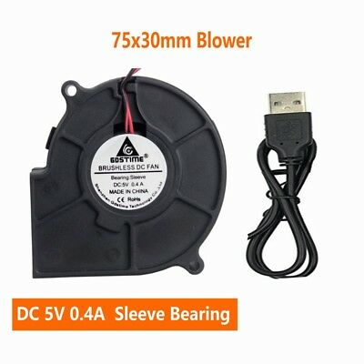 DC 5V 75mm 30mm USB Blower Cooler Fan Cooling For PC Computer Sleeve Bearing