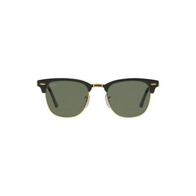 New Authentic Ray Ban Clubmaster Sunglasses RB3016 W0365 51mm Green Square Lens
