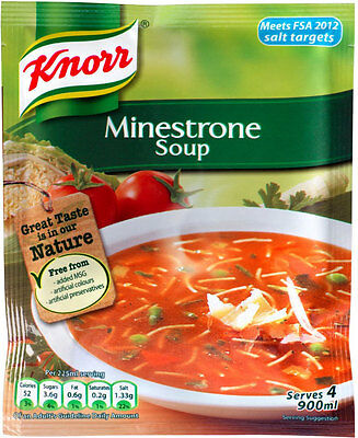 Knorr Minestrone Soup 3 X 62G **will Send Worldwide**