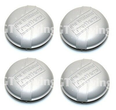 4 x Genuine Ifor Williams Trailer 76mm Hub Cap | Grease Cap | Dust Cap | P1258