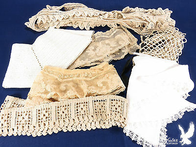 Antique Collars Cuffs Lace Trim 8 Pieces Mixed Lot