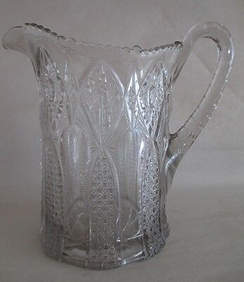 Vintage Hobstar Starburst Pitcher