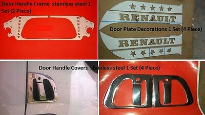 Renault Premium Cabin Decorations Stainless Steel Accessories 3 Sets (10 Piece)