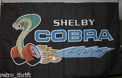 Ford Shelby Cobra Racing Car Banner Flag 3x5 Man Cave Garage Machine Shop