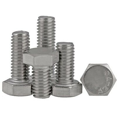 """3/8"""" 1/2"""" BSW Hex Tap Bolts Hexagon Set Screws/Bolts A2-70 304 Stainless Steel"""